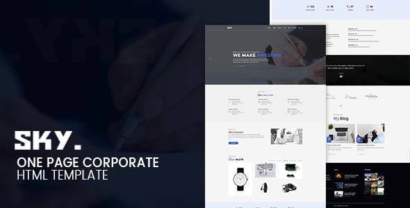 SKY - One Page Corporate HTML Template - Business Corporate