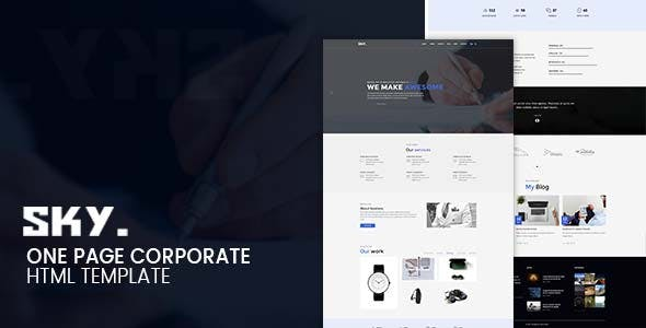 SKY - One Page Corporate HTML Template