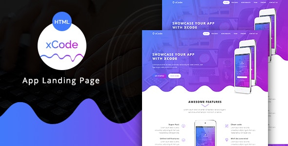 xCode - App Landing Page - Apps Technology