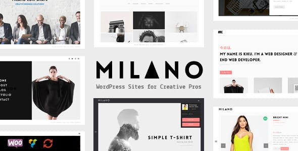 Milano | Creative Minimal Portfolio & Photography WordPress Theme