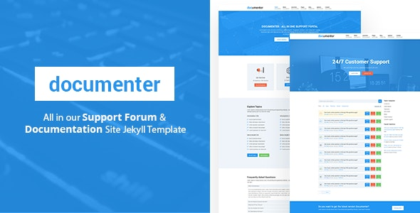 Documenter - All in One Support, Knowledgebase, Documentation Website Jekyll Template - Jekyll Static Site Generators