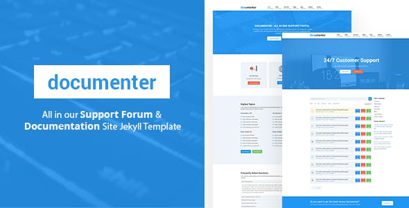 Documenter - All in One Support, Knowledgebase, Documentation Website Jekyll Template