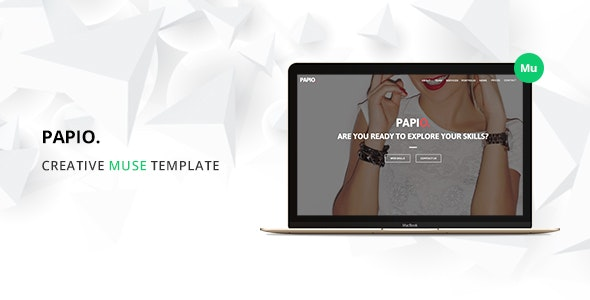Papio One Page Muse Template - Miscellaneous Muse Templates