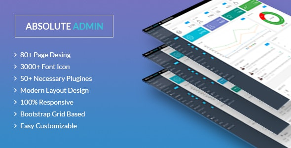 Absolute - Bootstrap 4 /Angular Admin/Dashboard Template - Admin Templates Site Templates