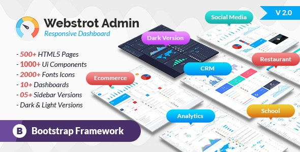 Webstrot Admin Panel Responsive Bootstrap Dashboard Template - Admin Templates Site Templates