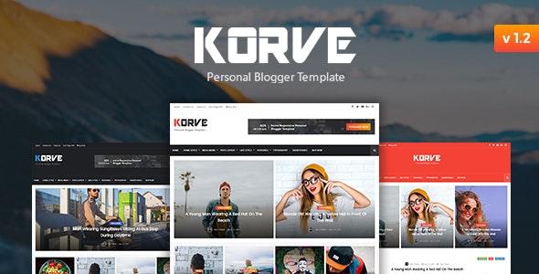 Korve - Personal Blogger Template - Blogger Blogging