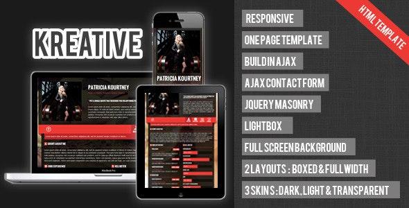 Kreative - Responsive Ajax Single Page Portfolio - Portfolio Creative