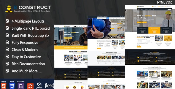Construction Industry - Business Corporate