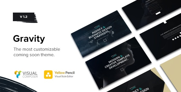 Gravity - Multi-Purpose Coming Soon Theme - Creative WordPress