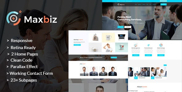 Maxbiz - Business Consulting and Professional Services HTML Template - Business Corporate