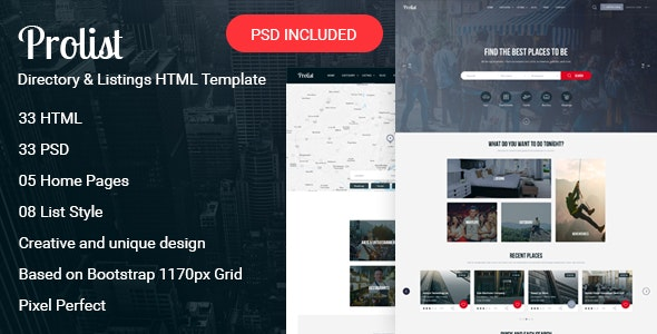 Prolist - Directory & Listings HTML Template - Business Corporate