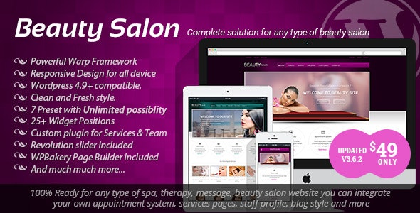 Beauty Salon - Responsive WordPress Template - Health & Beauty Retail