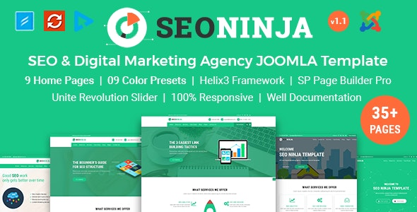 SEONinja - SEO & Digital Marketing Agency Joomla Template - Corporate Joomla