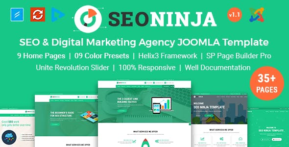 SEONinja - SEO & Digital Marketing Agency Joomla Template