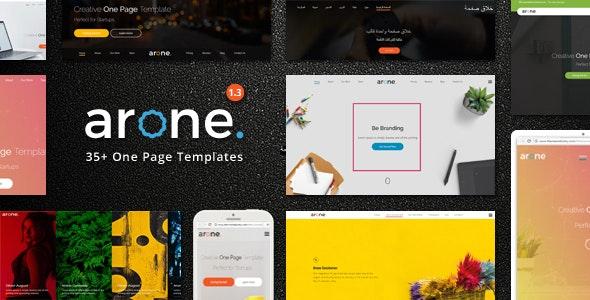 Arone - One Page Parallax - Portfolio Creative