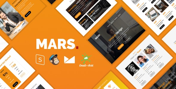 Mars - Responsive Email Template with MailChimp Editor, StampReady & Online Builder - Newsletters Email Templates