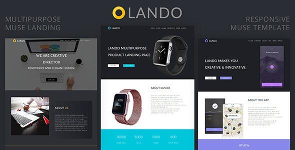 Lando_Multipurpose Muse Landing Page - Landing Muse Templates
