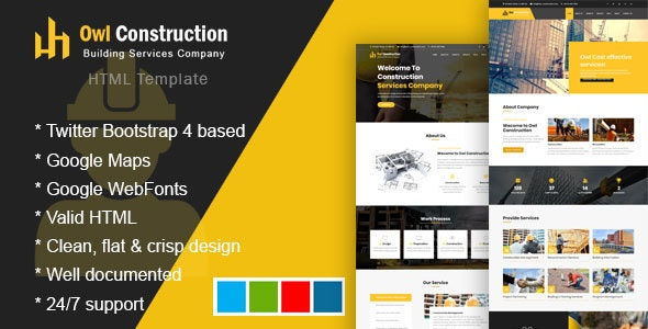 Owl - Construction Template for Architect - Business Corporate