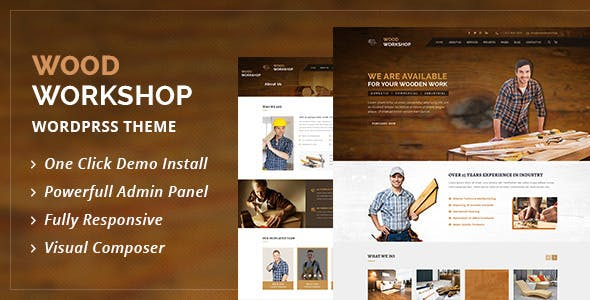Wood Workshop - Carpenter and Craftsman WordPress theme