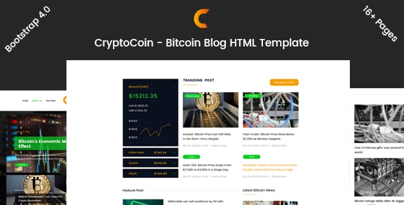 CryptoCoin - Crypto Blog HTML Template - Business Corporate