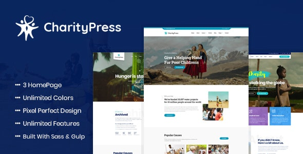 Charity Fundraising HTML Template - Charity Nonprofit
