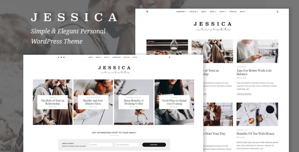 Jessica - Simple & Elegant Personal WordPress Theme - Blog / Magazine WordPress