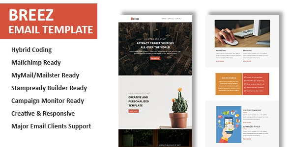 Breez - Multipurpose Responsive Email Template With Online StampReady Builder Access - Newsletters Email Templates