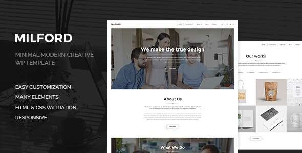 Milford Agency - Minimal, Clean & Creative  WP Corporate Business Theme - Business Corporate