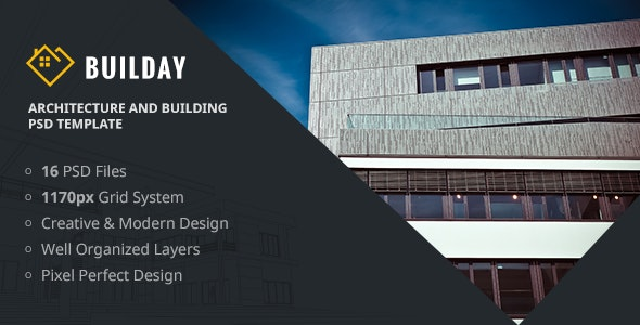 Builday - Architect And Building PSD Template - Art Creative