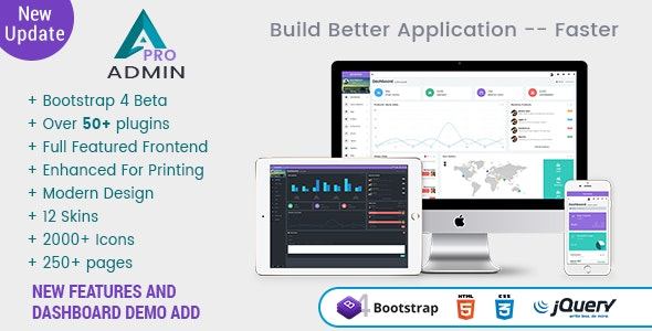 A Pro - Responsive Bootstrap 4 Admin Template, Dashboard & WebApp Template - Admin Templates Site Templates