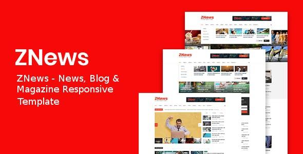 ZNews - News, Blog & Magazine Responsive Template