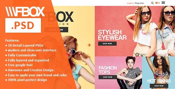 Fbox Fashion E Commerce PSD Web Template - Fashion Retail