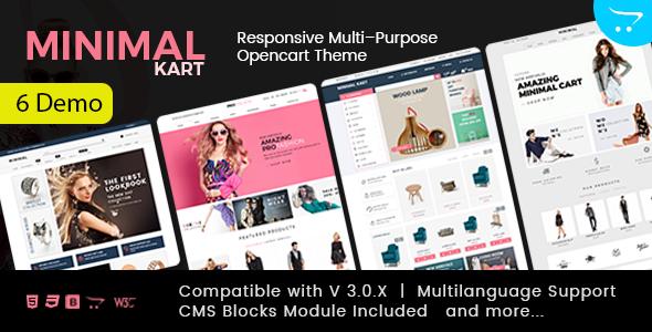 Minimal - Multi-purpose Responsive Opencart 3 Theme - OpenCart eCommerce