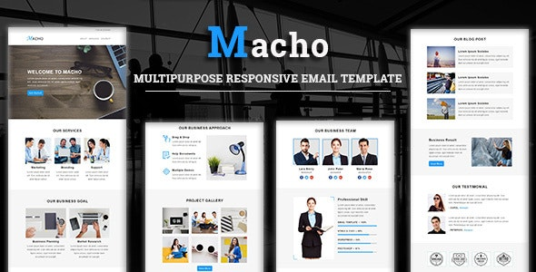 Macho - Multipurpose Responsive Email Template - Newsletters Email Templates