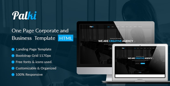 Palki One Page Corporate and Business Template - Business Corporate