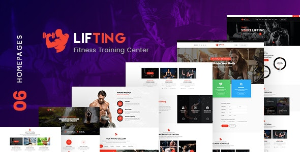 Lifting - Fitness, Gym, Yoga & Sports PSD Template - Health & Beauty Retail