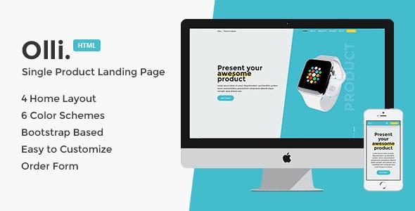 Olli - Single Product Landing Page - Marketing Corporate