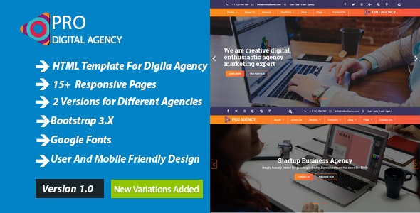 Pro Agency Personal & Business Template - Business Corporate
