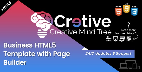 Creative Mind Tree - HTML5 Agency Template - Business Corporate