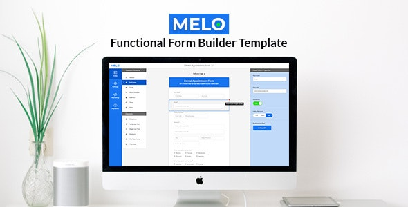 Melo Builder - Form Builder Interface HTML Template - Corporate Site Templates