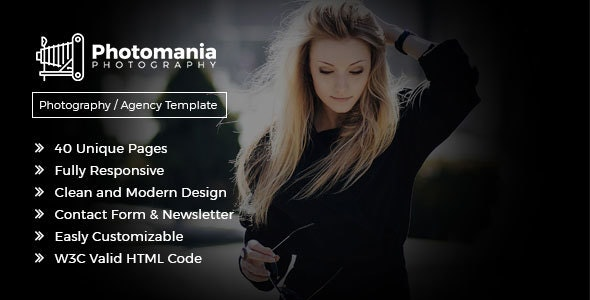 Photomania Agency - Modern Photography Template - Photography Creative