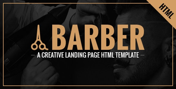Barber - A Creative Landing Page HTML Template - Health & Beauty Retail