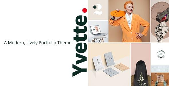 Yvette - Portfolio Theme for Creatives