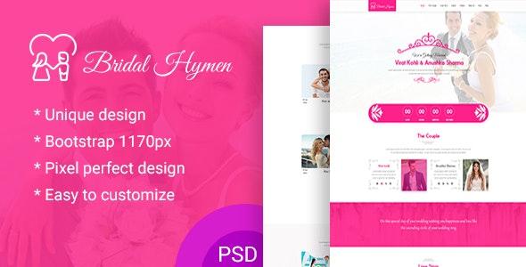 Wedding PSD Template - Experimental Creative