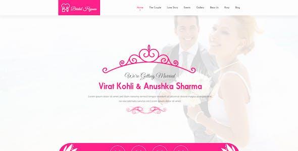 Wedding PSD Template