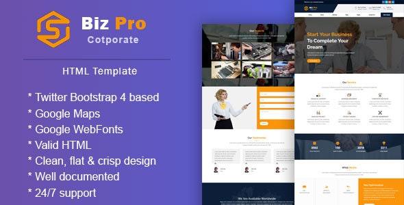 BizPro    Corporate & Business Responsive Template - Business Corporate