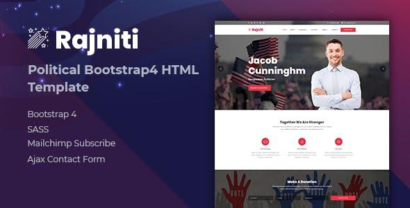 Rajniti - Political HTML Template