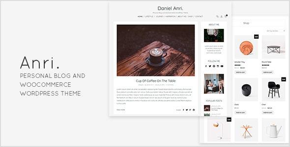 Anri   - Personal Blog and WooCommerce WordPress Theme - Personal Blog / Magazine