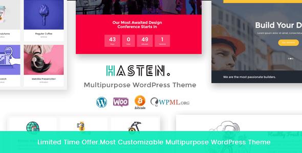 Hasten - Creative Multipurpose WordPress Theme - Creative WordPress