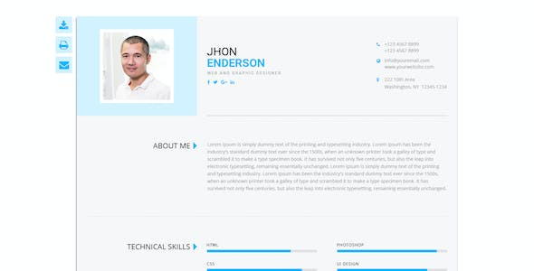 CV Template Doc Website Templates from ThemeForest